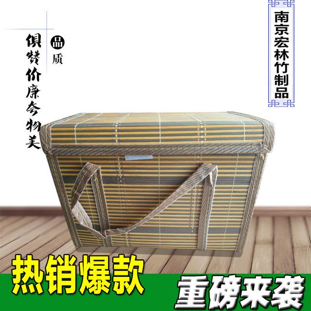 廠家直銷螃蟹竹籃禮盒包裝螃蟹手提籃大閘蟹竹籃子竹編提籃竹編
