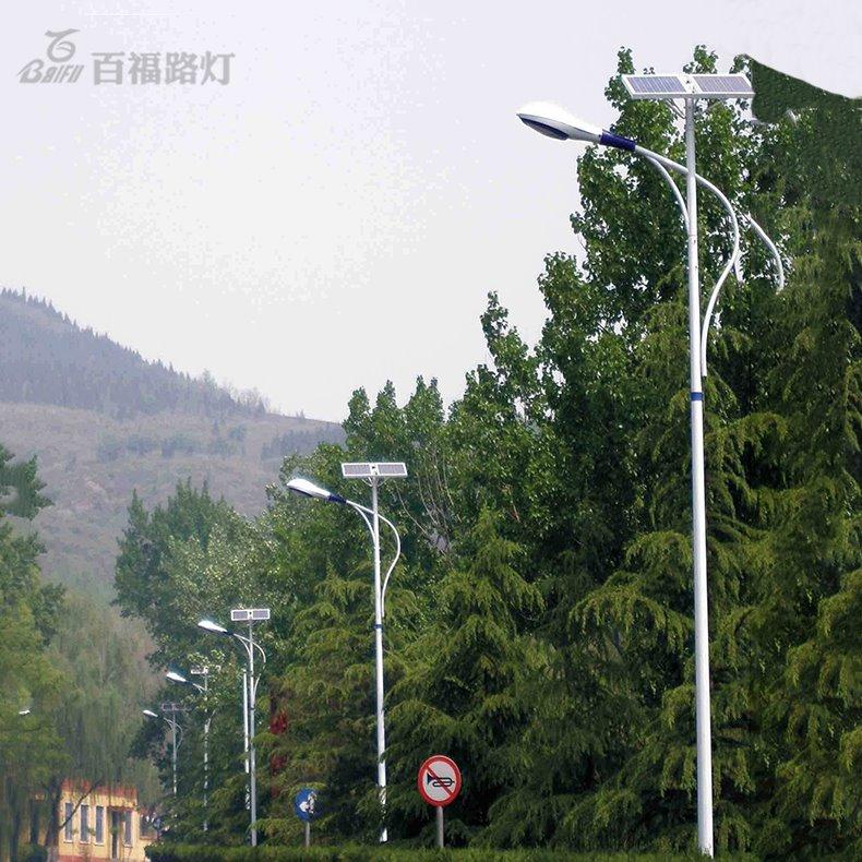 貴州路燈廠家 定制民族特色太陽能路燈 百福照明6米led太陽能路燈