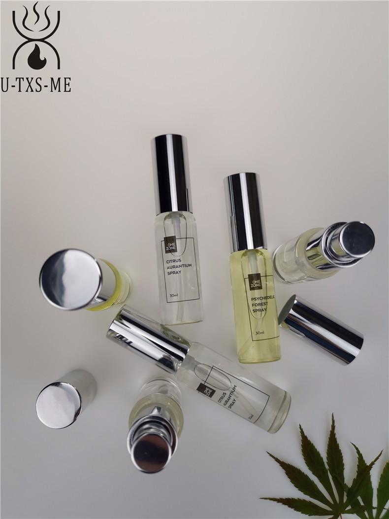 拉管香水玻璃瓶家居植物精油环保空气清新30ml圆形喷雾爱博国际lovebet香水示例图3