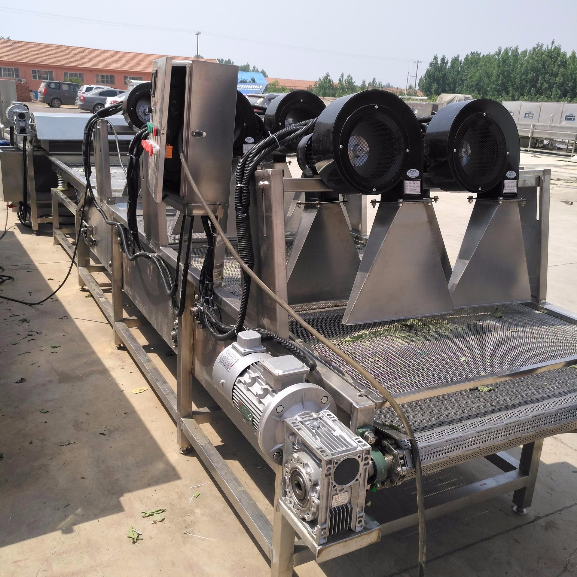诸城汇康FG-3000型油炸食品风凉机  卤煮花生风干线 卤蛋风干机