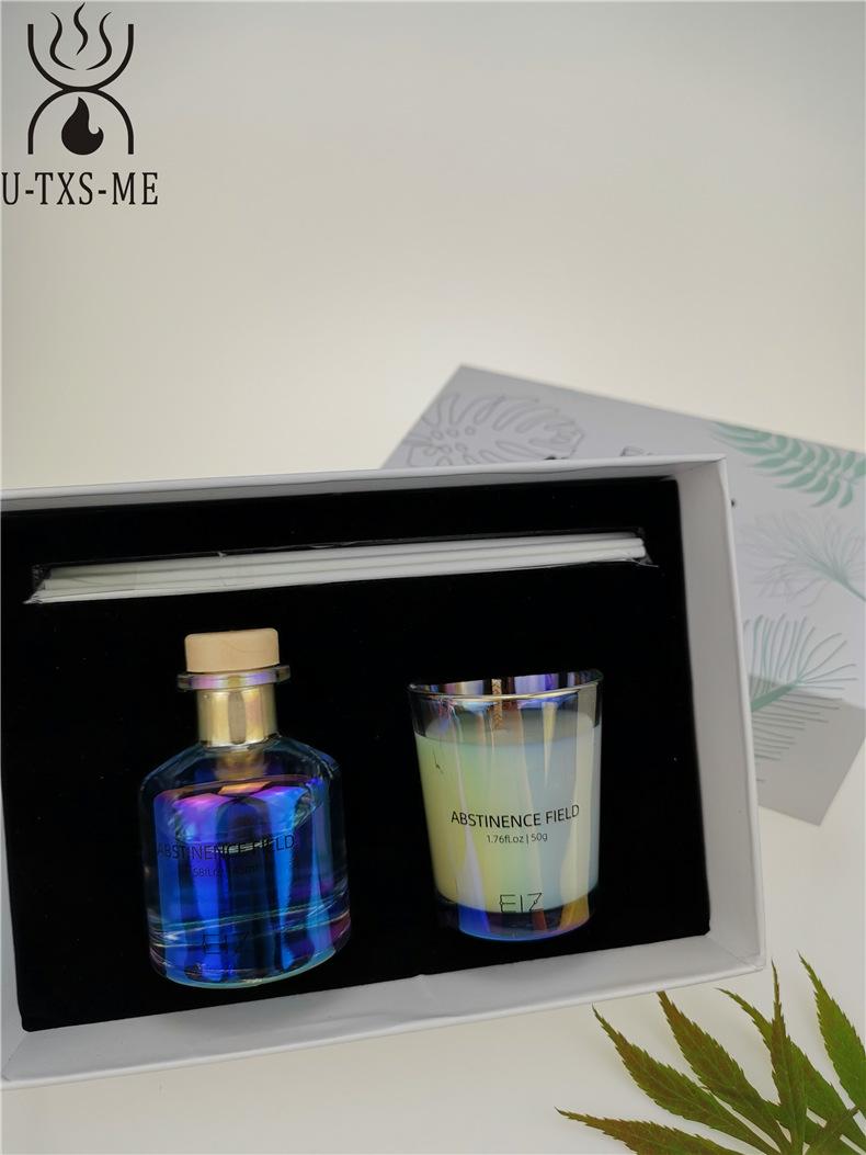 玻璃杯家居植物精油环保进口大豆蜡烛散香器香薰套装伴手礼示例图8