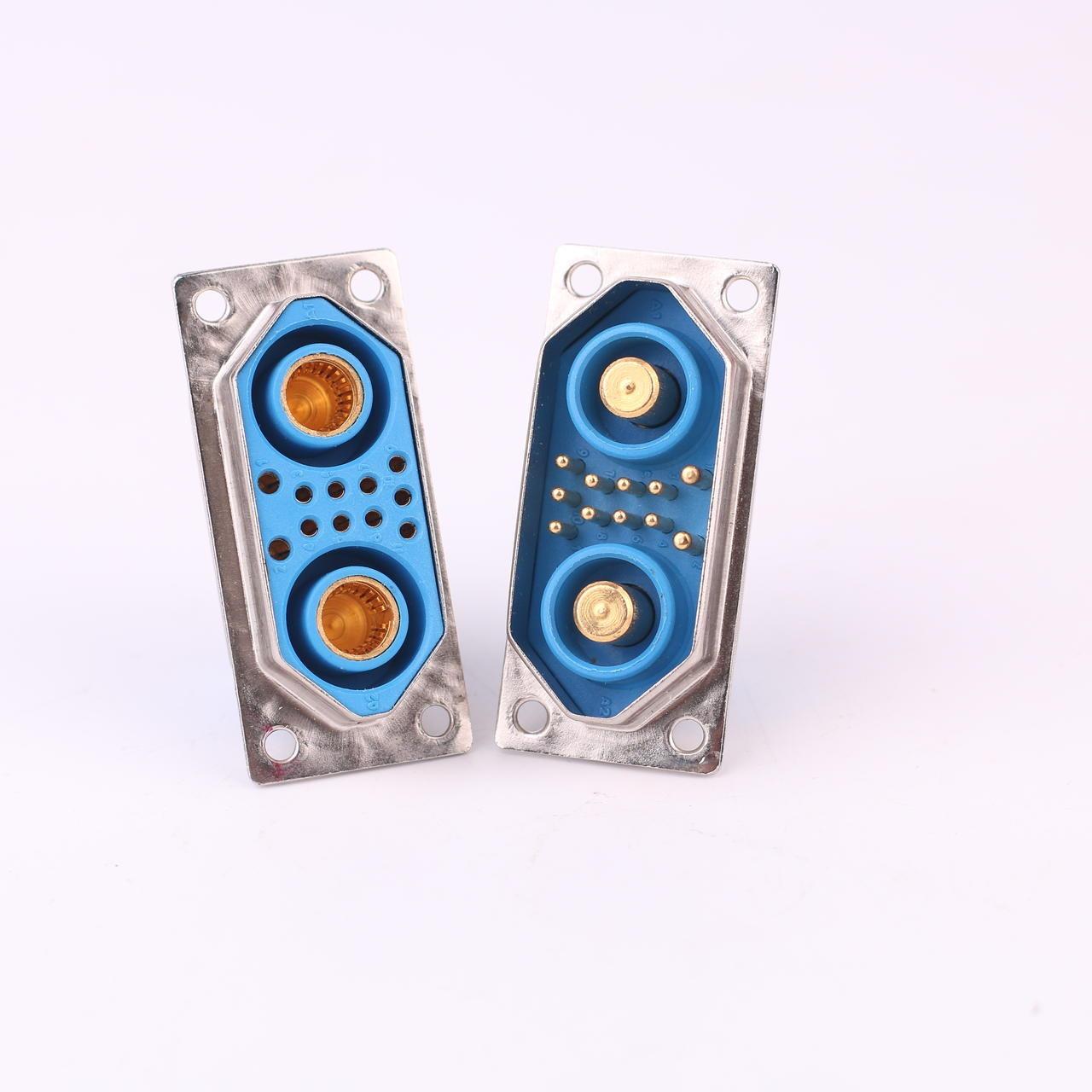 電源連接器 大電流連接器   東普電子廠家定制   13W2大電流混裝連接器  采用冠簧插孔  表面鍍金