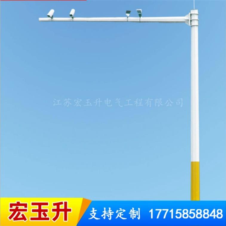 宏玉升厂家直销道路监控杆 路口监控杆 6米8米10米监控杆供应 厂家直销 来样定制