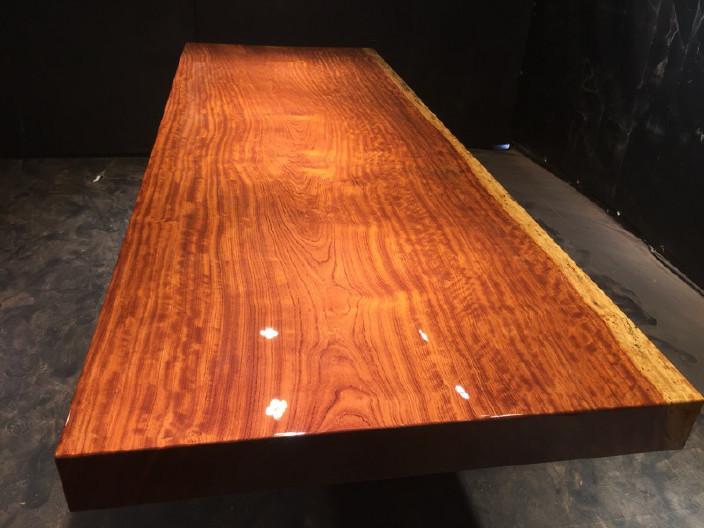 奥坎竞技宝和雷竞技哪个好大板原木餐桌 中式茶桌 老板办公雷竞技靠谱吗套装组合巴花大板示例图15