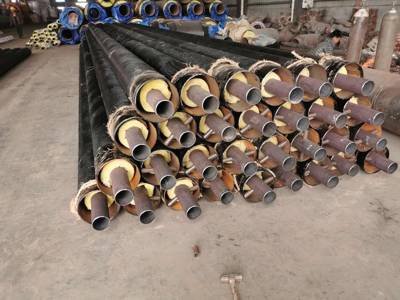 直埋式保溫鋼管 大口徑預制直埋保溫管價格 三油兩布防腐鋼管