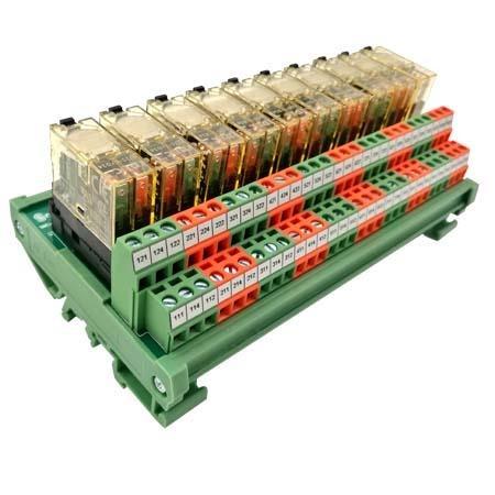 世麥德電氣供應10路和泉繼電器模組PLC二開二閉繼電器模組PLC輸出放大板SMD-10DO-2CO-DC24V