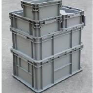 可堆周转箱 塑料箱 物流箱 莱恩周转箱 带盖物流箱示例图1