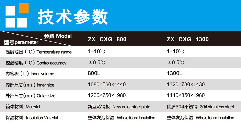 上海知信层析柜 双门1300L层析实验冷柜 ZX-CXG-1300多功能实验冷示例图7