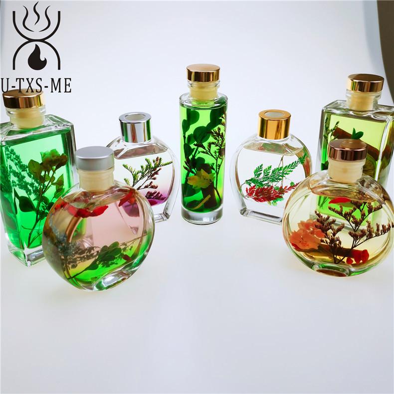 厂家直销玻璃杯家居植物精油环保藤条天然干花散香器无火香薰示例图3