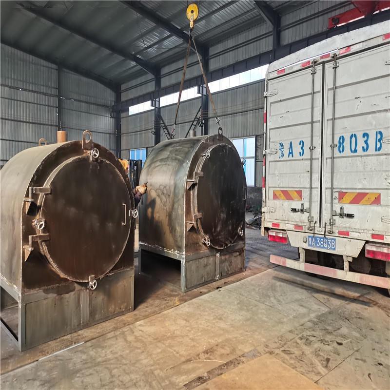 取暖木材木炭炭化機碳化爐 小型臥式木炭連續炭化爐設備廠家直銷