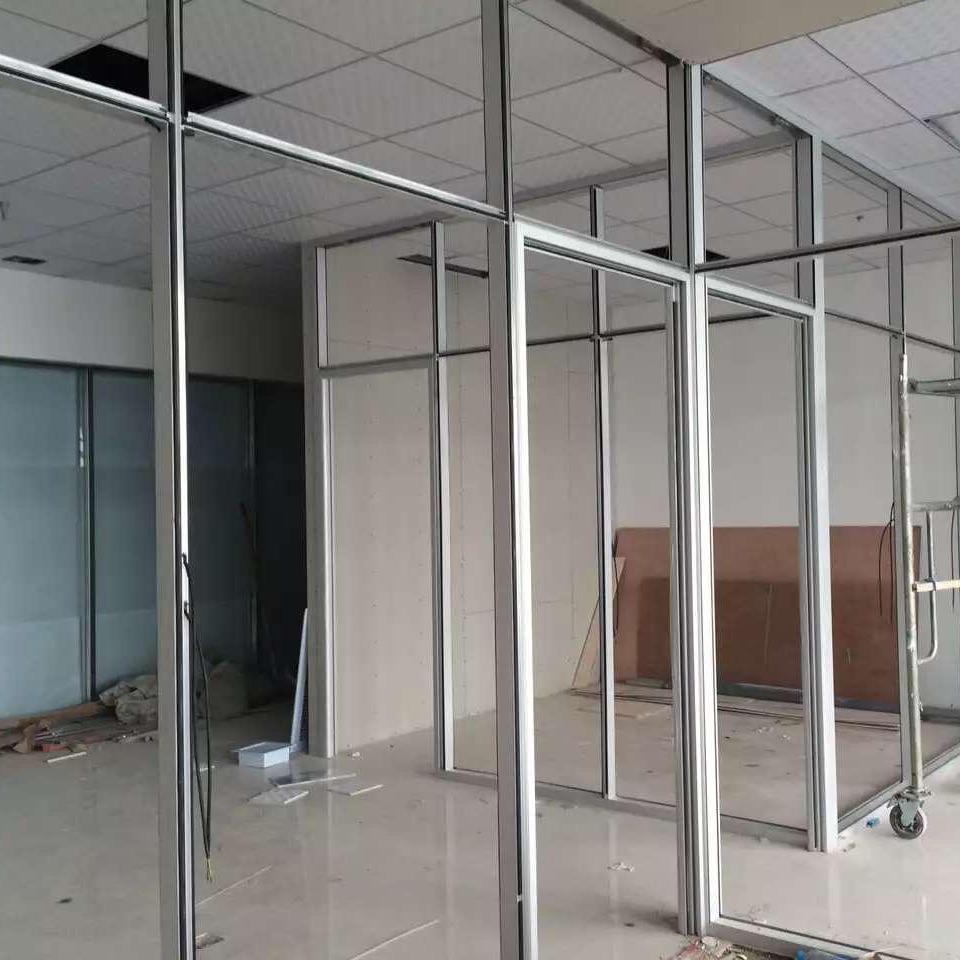 辦公玻璃隔斷墻高隔斷屏風 鋁合金鋼化玻璃隔斷間 隔斷墻專業定
