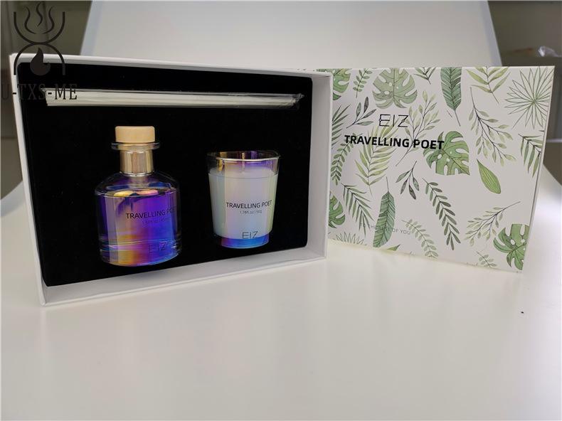 玻璃杯家居植物精油环保进口大豆蜡烛散香器香薰套装伴手礼示例图3