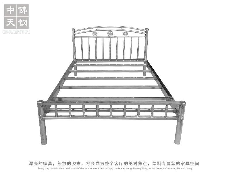 202鋼制公寓出租屋床 不銹鋼床1.2 1.5 1.8米304不銹鋼雙人床廠家示例圖5