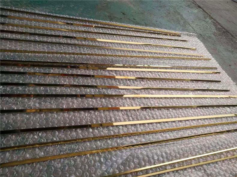 6毫米不锈钢实心条 镜面钛金装饰T条瓷砖收口填缝玫瑰金条批发示例图16