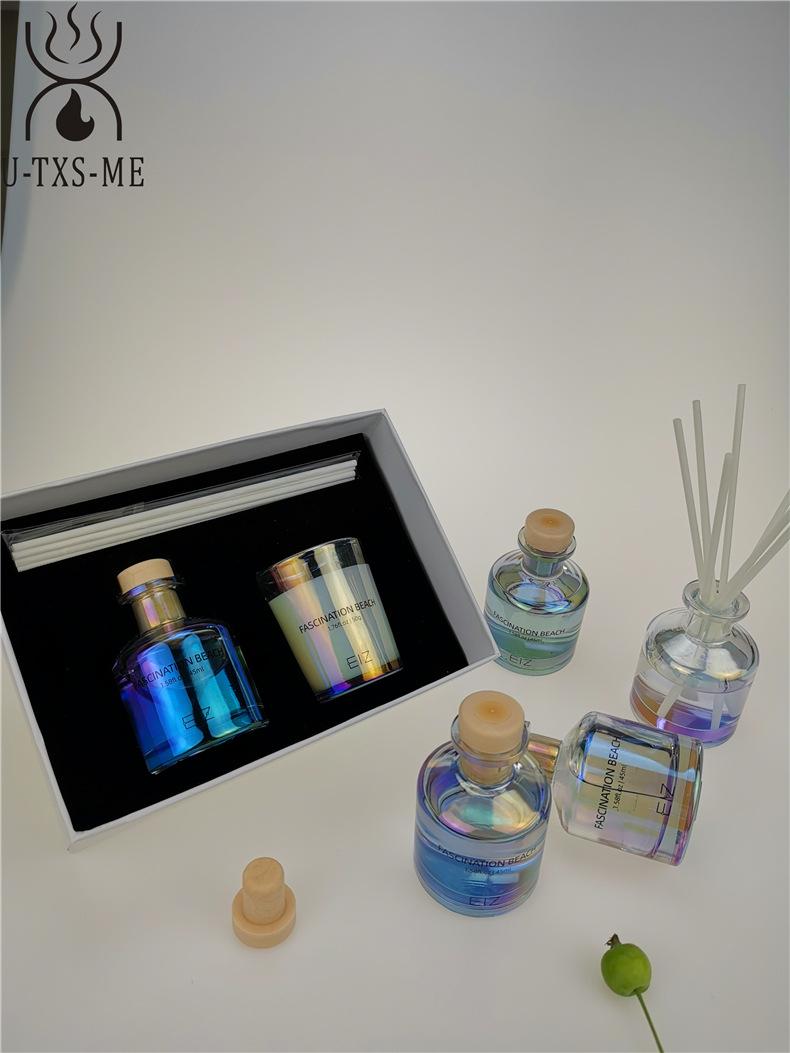 玻璃杯家居植物精油环保进口大豆蜡烛散香器香薰套装伴手礼示例图6