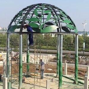 专业生产安装铁艺穹顶,欧式景观亭,新中式景观亭,圆顶亭,方顶亭