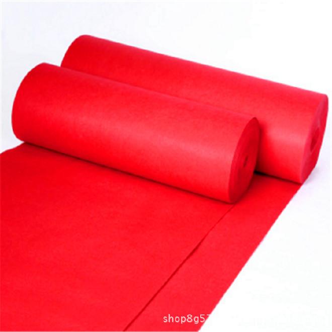 红地毯一次性加厚结婚礼舞台展览会开业喜庆典大红色条纹地毡整卷示例图3