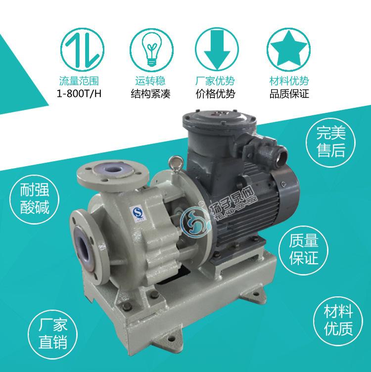 IHF氟塑料合金离心泵泵单级单吸式耐高温钢衬氟塑料化工泵示例图2