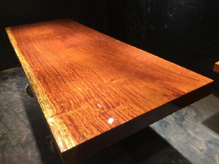 奥坎竞技宝和雷竞技哪个好大板原木餐桌 中式茶桌 老板办公雷竞技靠谱吗套装组合巴花大板示例图16