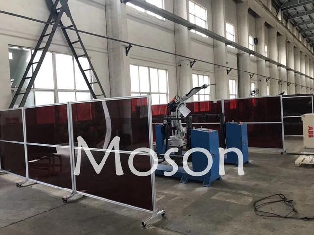 Moson品牌 焊接防護屏 焊接防護圍欄 機器人防護圍欄
