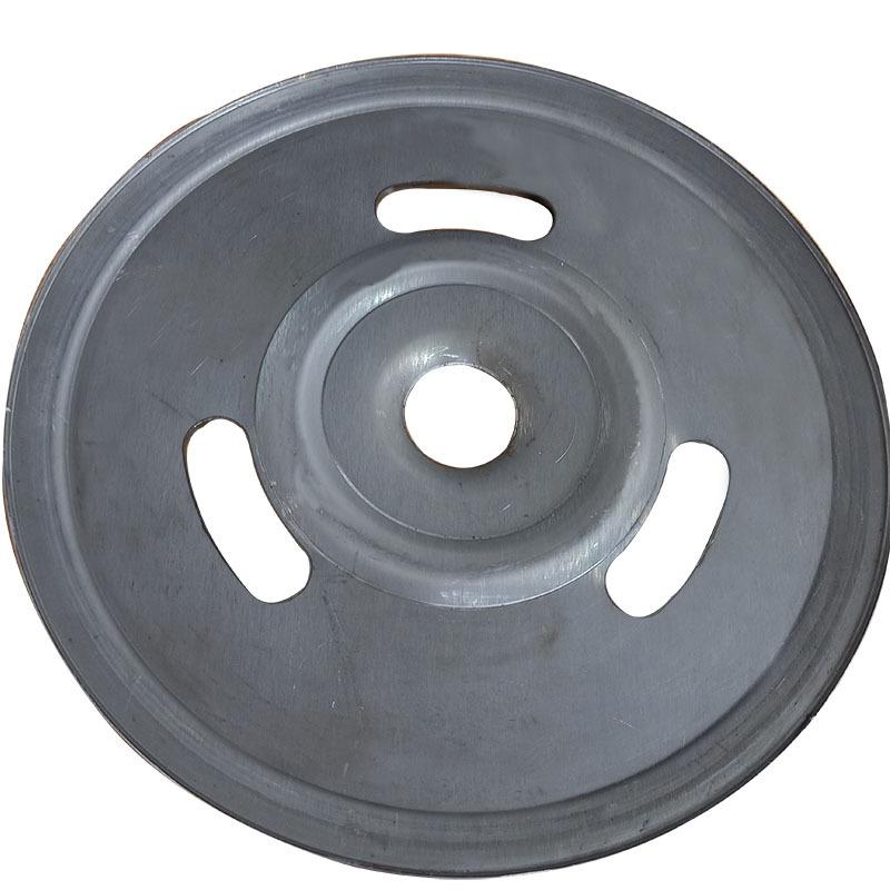 厂家直销新款熟铁旋压单槽劈开式皮带轮可定做异形轮示例图2