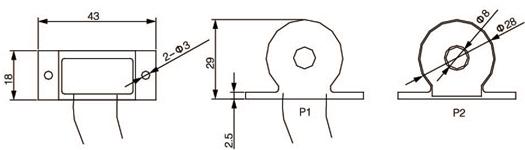 安科瑞,测量型电流互感器,AKH-0.66-60I,额定电流比1000-2500/示例图25