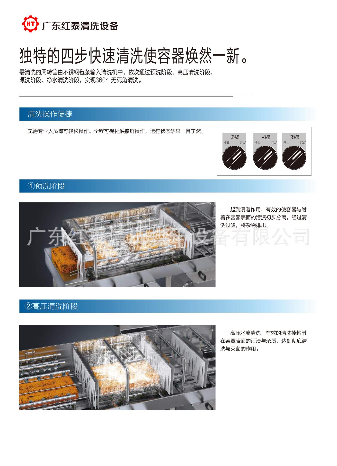 定制高效全自动周转箱清洗机 广州洗箱机厂家定制 10年设计经验示例图6