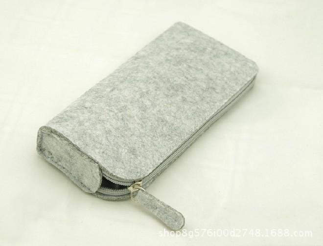 厂家直销毛毡笔袋时尚学生 大容量简约铅笔袋文具学生用品示例图5