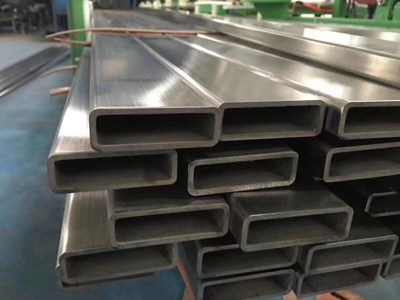 一级正材 304 316L不锈钢方矩管40*100 拉丝 镜面不锈钢扁管示例图2
