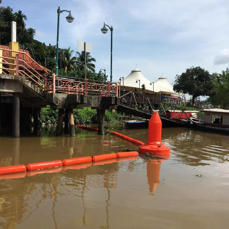 水上塑料拦污浮筒 河面垃圾挂网浮筒 拦污浮筒厂家 环海塑料