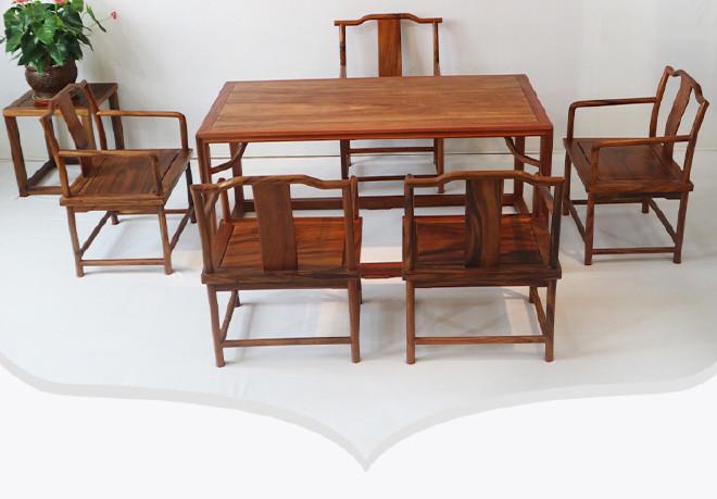 红木雷竞技靠谱吗 新中式茶桌 胡桃木茶桌 竞技宝和雷竞技哪个好公办室茶几茶桌椅组合示例图11