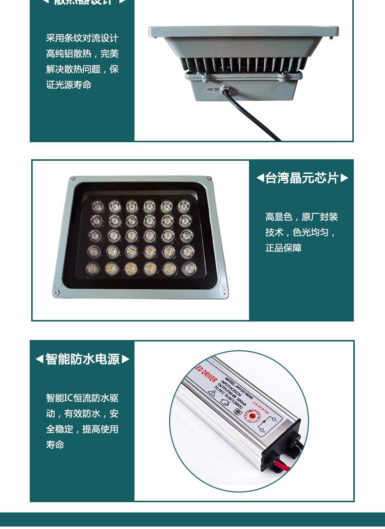 厂家批发户外照明防水 LED 50W大功率集成投光灯 LED集成投射灯示例图4