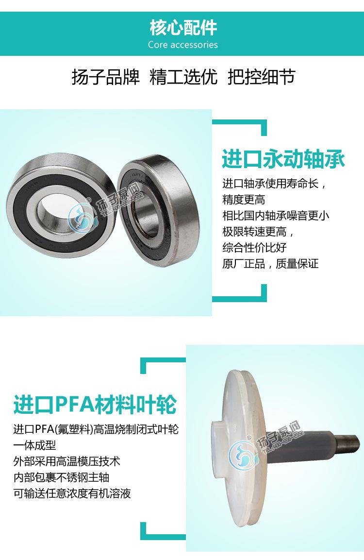 厂家直销IHF80-65-160氟塑料化工离心泵盐酸泵泵浓酸泵厂家示例图9