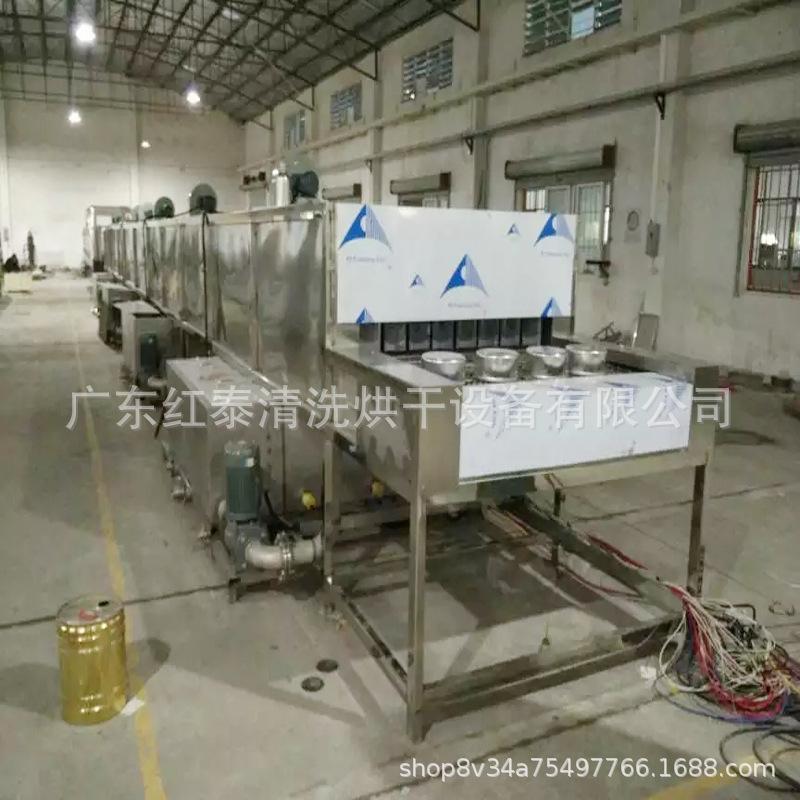 铝合金压铸件批量除油除屑通过式超声波喷淋清洗烘干线设备厂家示例图5