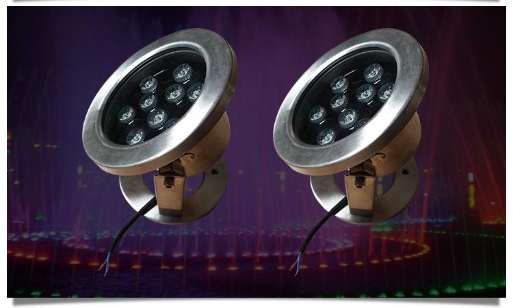 LED不锈钢水底灯户外景观LED水底灯公园广场水池水底灯示例图6
