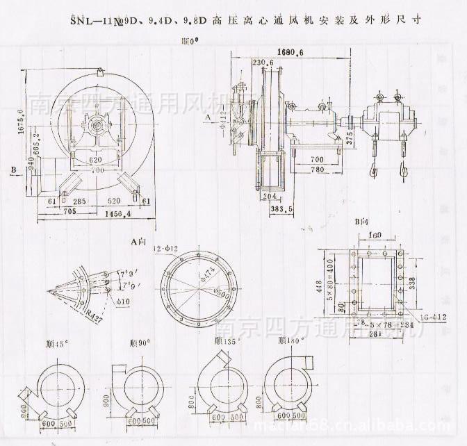 厂家直销SNL型水泥立窑专用系列高效高压鼓风机 通风机示例图3