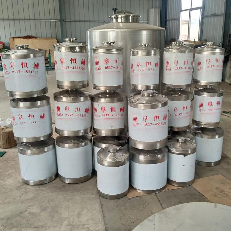 不锈钢304加厚密封酒桶 50升100升 200升定做加工储存酒水食用油示例图4