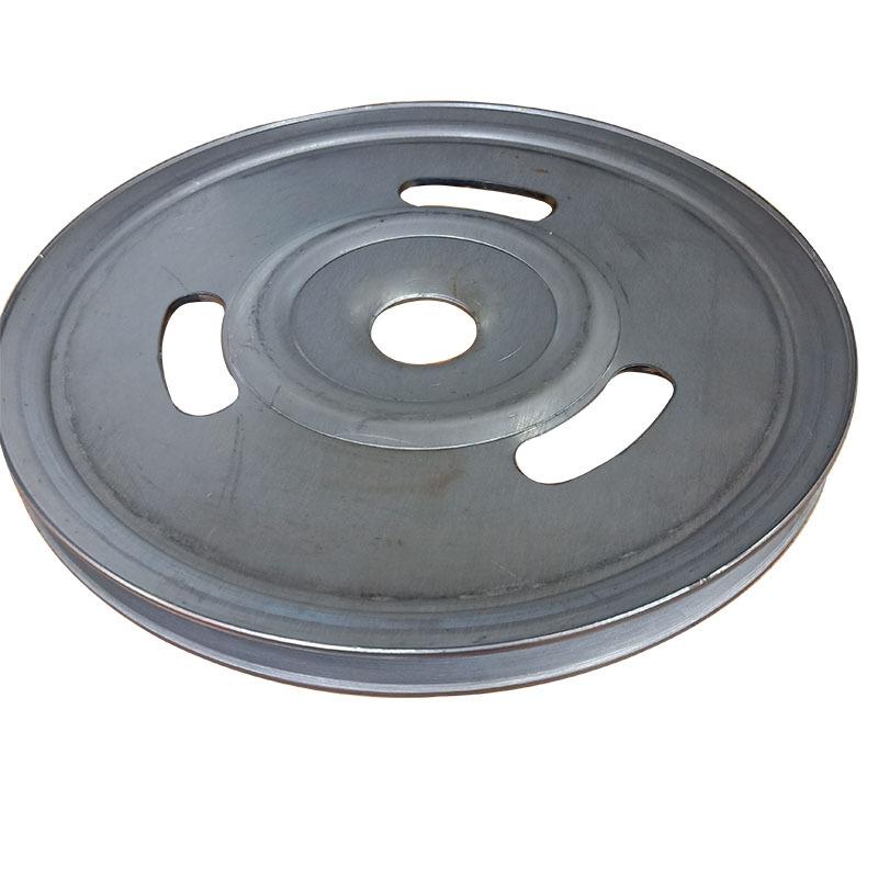 厂家直销新款熟铁旋压单槽劈开式皮带轮可定做异形轮示例图3