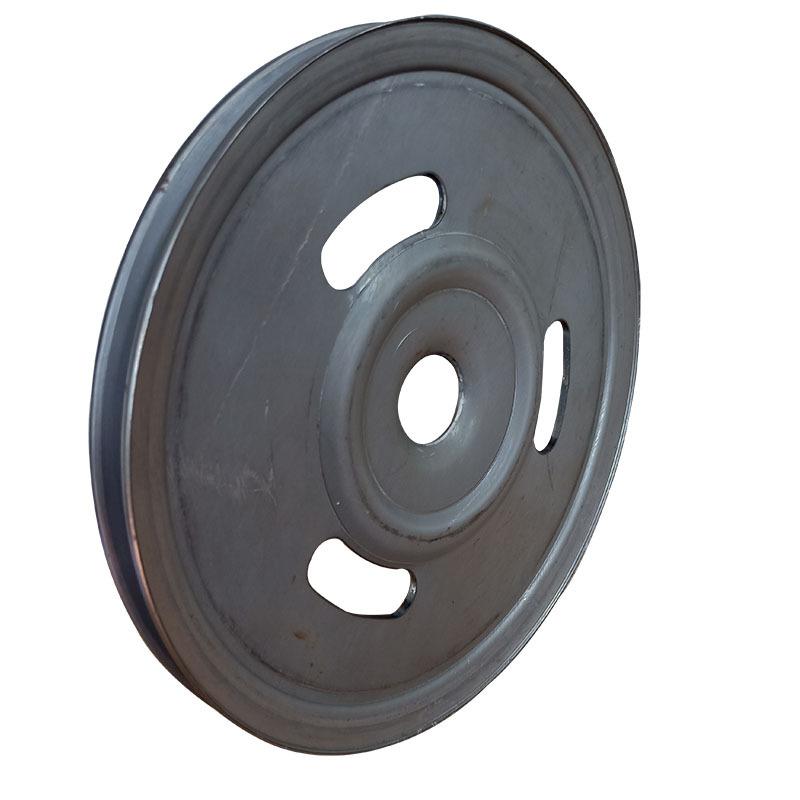厂家直销新款熟铁旋压单槽劈开式皮带轮可定做异形轮示例图1