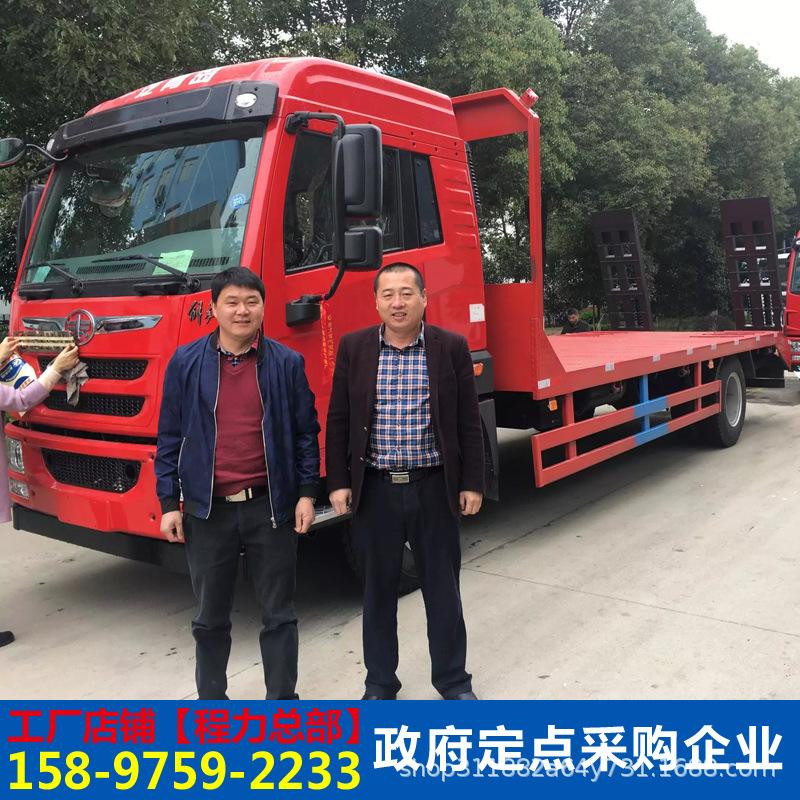 東風多利卡12噸挖掘機平板運輸車挖機平板拖車工程機械運輸車廠家示例圖5