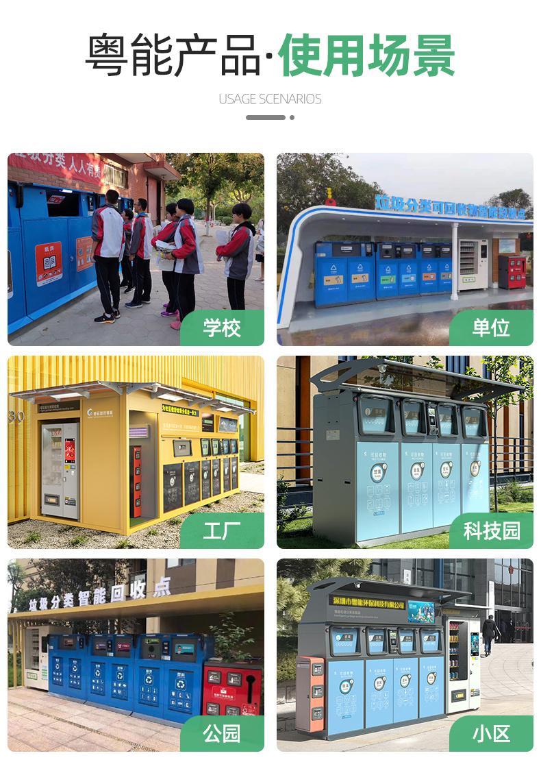 多重身份識別粵能YN--1480P小區智能垃圾桶  品牌垃圾分類回收箱示例圖11