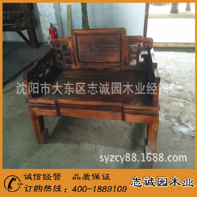 精品熱銷防腐木桌椅 碳化防腐木桌椅 酒吧防腐木桌椅