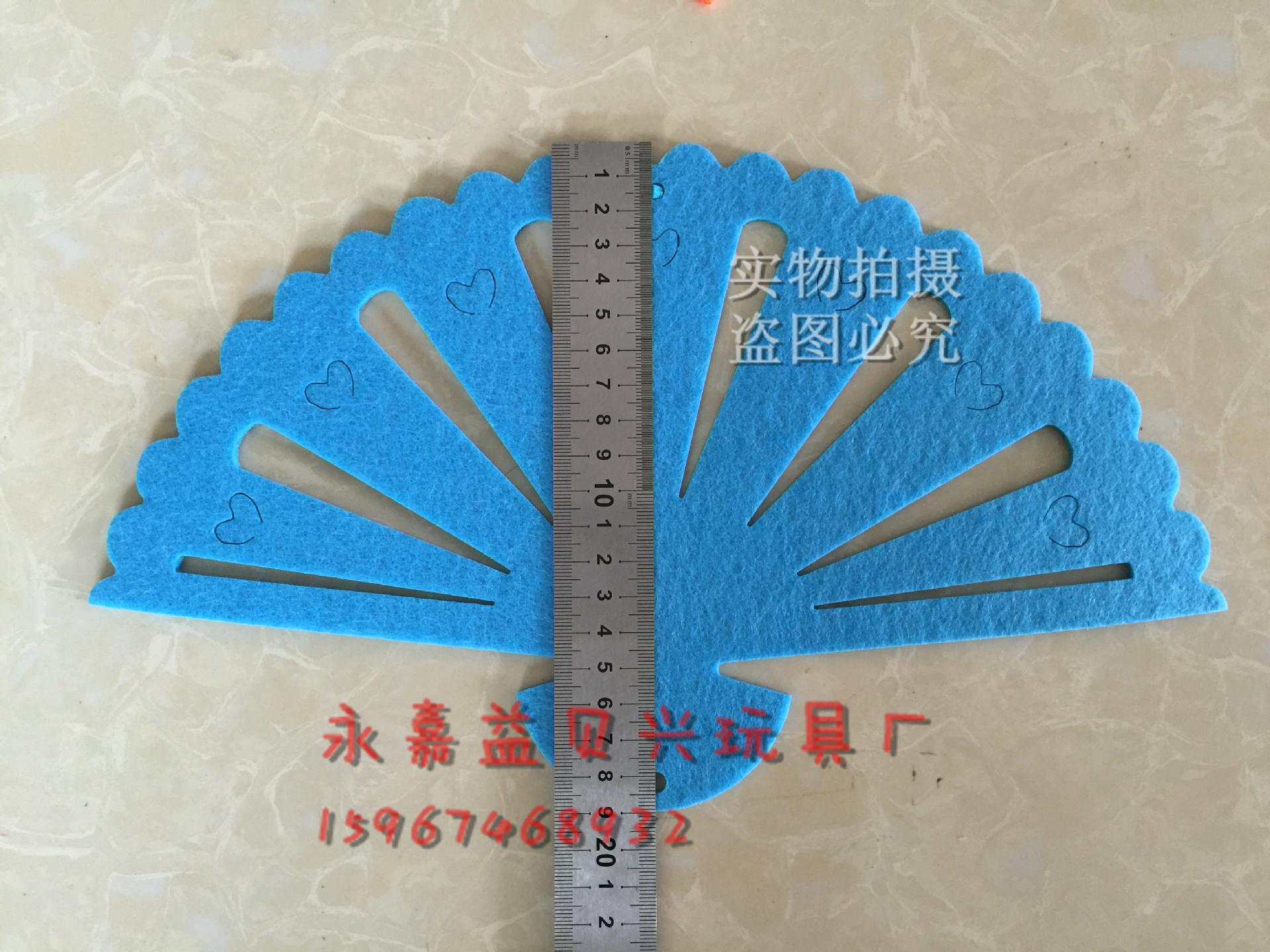 无纺布扇子吊饰幼儿园走廊创意空中挂饰室内布置 悬挂 中国风示例图4