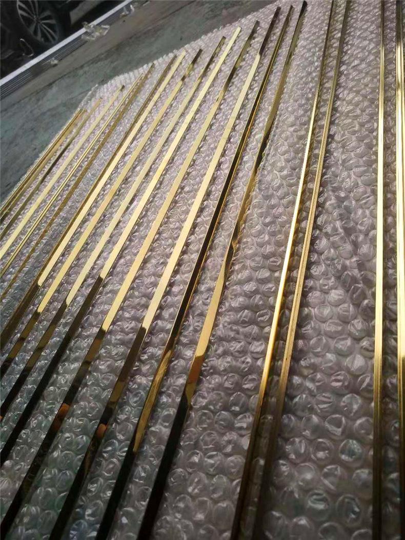 6毫米不锈钢实心条 镜面钛金装饰T条瓷砖收口填缝玫瑰金条批发示例图13
