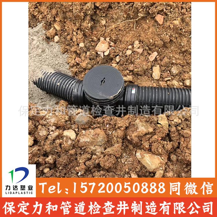 力和管道 网上直销 HDPE双壁波纹管 PE波纹管 型号齐全 质量保证示例图12