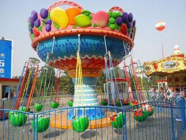 2020豪华16座西瓜飞椅游乐设备 厂家直销 郑州大洋公园项目水果飞椅示例图4