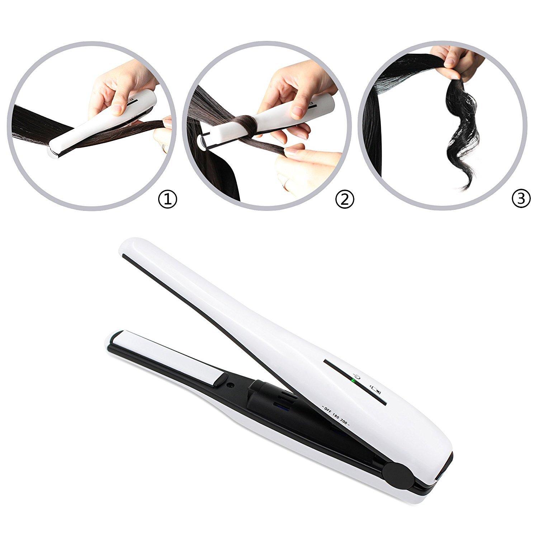 厂家直销外贸便携迷你直发卷发器USB无线充电刘海直发卷发夹示例图5