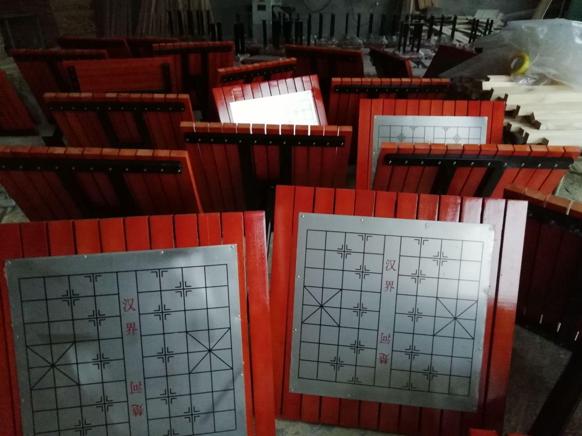 长期供应户外防腐木休闲椅 公园小区座椅 长椅 铸铁腿 实木 塑木示例图13