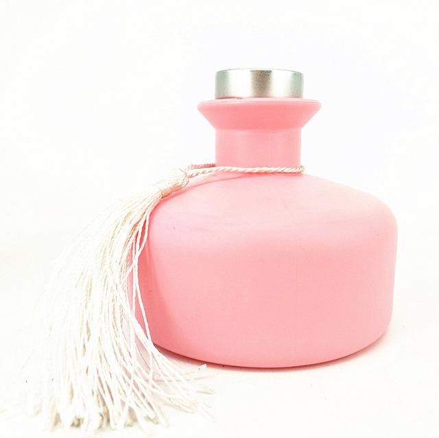 香薰瓶玻璃200ml無火香薰瓶加厚圓形香薰瓶香水瓶帶瓶蓋精油瓶