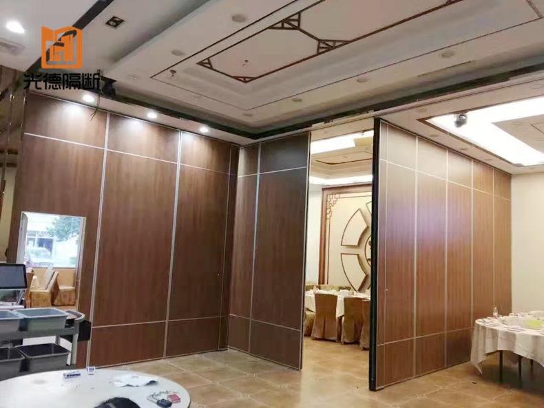 铝合金酒店活动隔断 活动屏风隔断墙 宴会厅折叠移动隔音墙定制示例图2